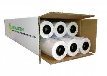 (0,21€/m²) Plotterpapier 4 Rolle ungestrichen | 90gr/m², 91,4cm (914mm) b, 90m l, CAD, unbeschichtet
