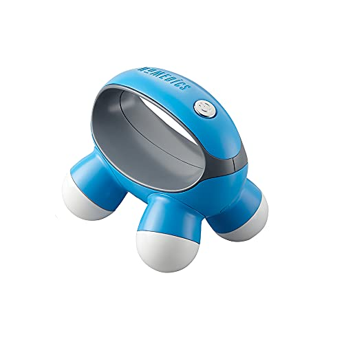 HoMedics, Quatro Mini Hand-Held Massager with Hand Grip, Battery Operated Vibration Massage, 4 Massage Nodes, Powered by 2 AAA Batteries (Included), Assorted Colors