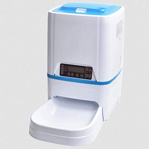 CSDY-3L Alimentatore Automatico per Cani E Gatti - Distributore Automatico di Cibo con Promemoria Vocale E Programmatore di Schermo LCD, Alimentabile con Batterie O Adattatore, 4 Pasti al Giorno,S