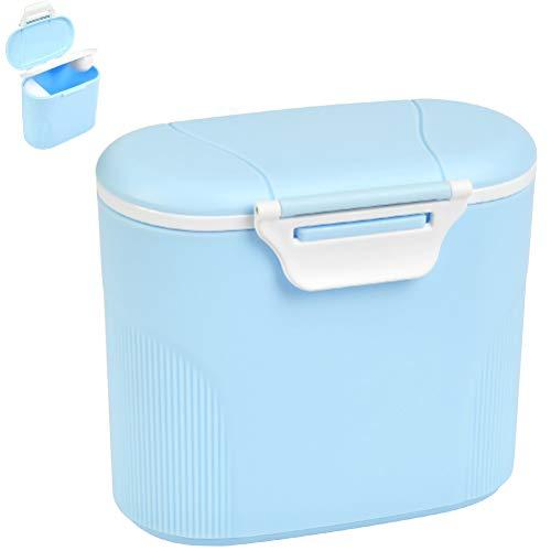 Luftdichte Milchpulver-Spender Milchpulver Aufbewahrung,600 ml WasserkapazitätMilchpulver-Spender,Tragbarer Baby Milchpulver Behälter- Milchpulver etwa 380 g(Blue Groß)