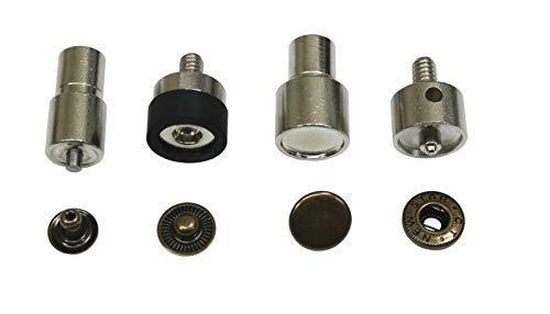 Ista Tools S-Feder oder Ring-Feder, Druckknöpfe 10mm, 12,5mm, 15mm Messing, rostfrei, Knopf, Press-Studs (1, Einsatz-Werkzeug 12,5mm)