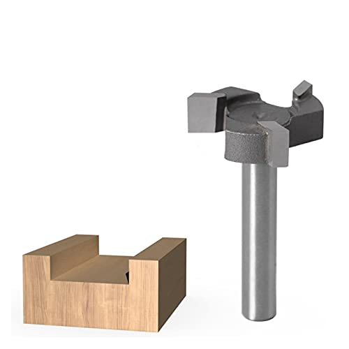 1 unids bits de enrutador de superficie de swingerboard,6mm Shank 1/4'Shank 3 dientes T-slot Router Bit Cnc Fresado de borde recto ranurado cortador de fresado ( Cutting Edge Length : NO2 1l4 shank )