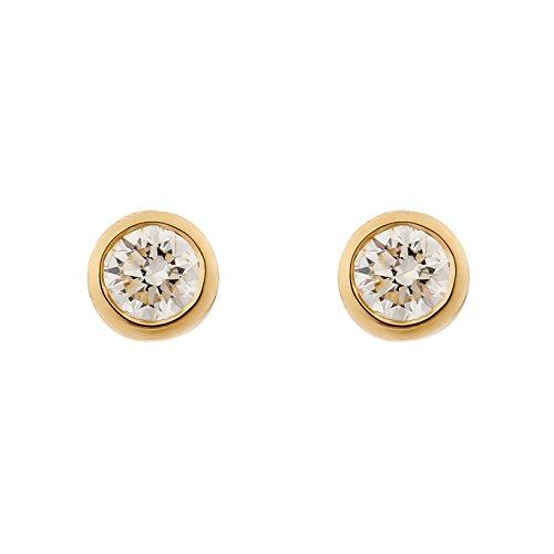 Orphelia Damen-Ohrstecker 18_k_(750) Gelbgold Diamant OD-5329/1