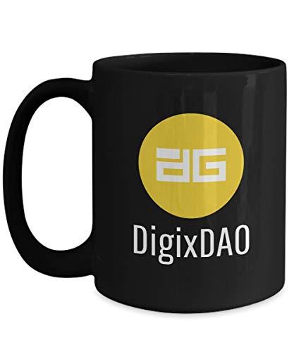 Officiell DigixDAO kryptovaluta stor mugg akryl kaffehållare svart 325 ml krypto gruvarbetare blockkedja investering handel köp sälj håll DGD