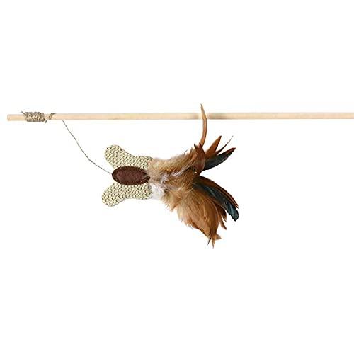 Trixie 45733 Spielangel mit Schmetterling und Federn, 45 cm