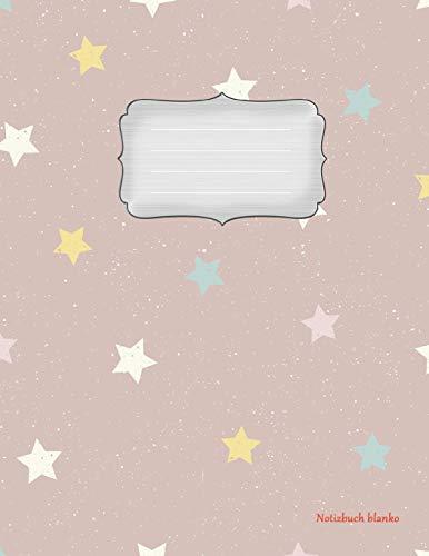 Notizbuch blanko: Sterne - A4 Format   112 Seiten   Notizbuch mit Register  ideal als Tagebuch, Skizzenbuch, Sketchbook, Zeichenbuch oder leeres Malbuch