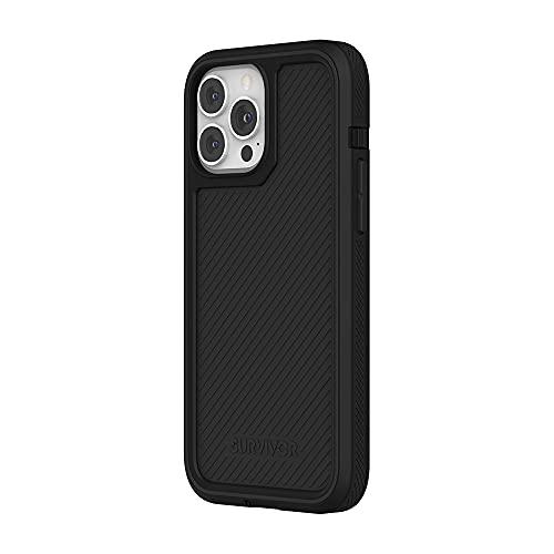 Survivor All-Terrain Earth - Custodia per Apple iPhone 13 Pro Max, trattamento antimicrobico, 4,8 m, resistente alle cadute, compatibile con MagSafe & Qi, colore: Nero