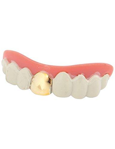 Dentier avec dent en or - Taille Unique
