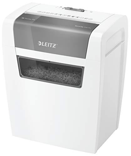 Leitz IQ Home Partikelschnitt Aktenvernichter P4, 6 Blatt, 15 Liter Abfallbehälter, Leise und Kompakt, Weiß, 80340000