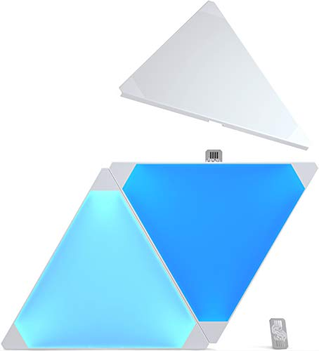 nanoleaf Light Panels Erweiterungspack - 3 zusätzliche modulare LED Panels - Starterkit wird benötigt [16 Millionen Farben | Plug and Play | iOS (Apple Home Kit kompatibel) & Android]