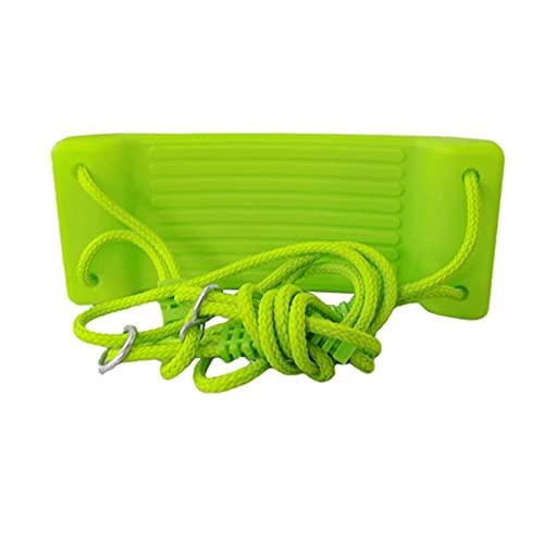 Columpio Kit de Swing de jardín al Aire Libre Infantil, Silla de Colgante de Cuerda Ajustable, Adecuado para Patio de jardín de Infantes (Color : Green 2)