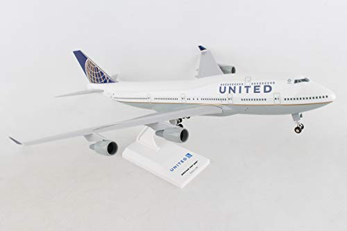 Daron Skymarks United 747-400 Post Co Merge Model Kit with Gear (1/200 Scale)