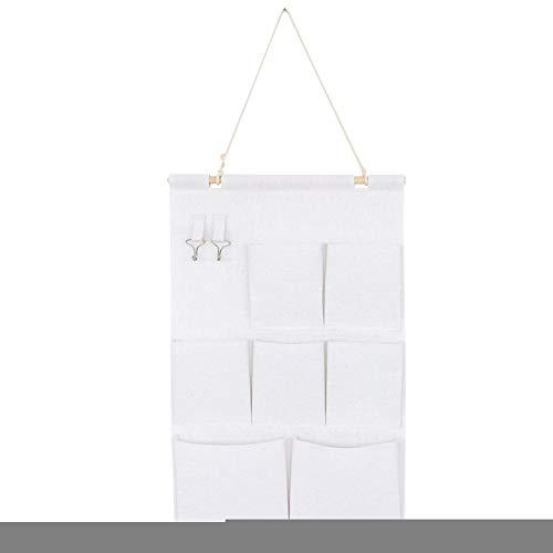 Caja de almacenamiento de colgar ZQCM, bolsa de almacenamiento de lino de algodón Estudiante Dormitorio Colgante de bolsillo Multilapa Multilapa Dries Bolsa de almacenamiento Bolsa de almacenamiento,