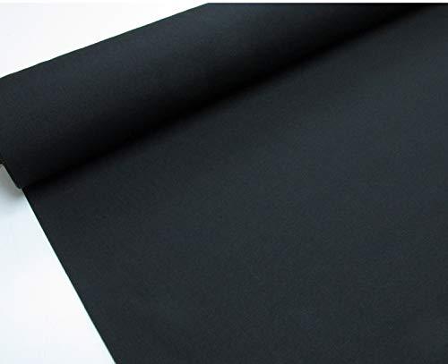 Confección Saymi - Metraje 0,50 MTS. Tejido loneta Lisa Nº 138 Negro con Ancho 2,80 MTS.