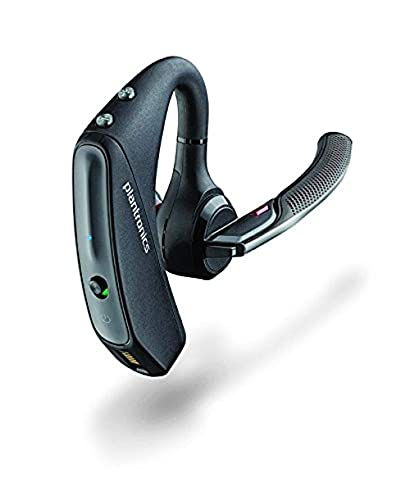 Plantronics - Voyager 5200 UC (Poly) - Bluetooth Single-Ear (Monaural) Headset - Compatible to connect to your PC and/or Mac - Works with Teams, Zoom & more - Noise Canceling