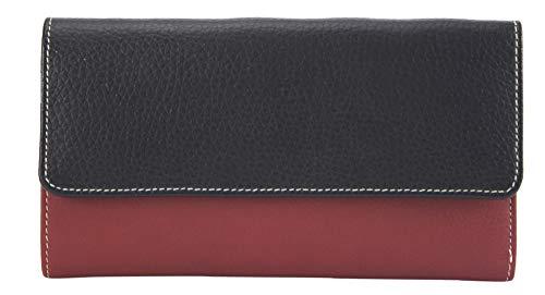 Sunsa Geldbörse für Damen großer Leder Geldbeutel Portemonnaie mit RFID Schutz Brieftasche mit viele Kreditkarten Fächer Geldtasche Wallet Purses for Women das Beste Gift kleine Geschenk 81626