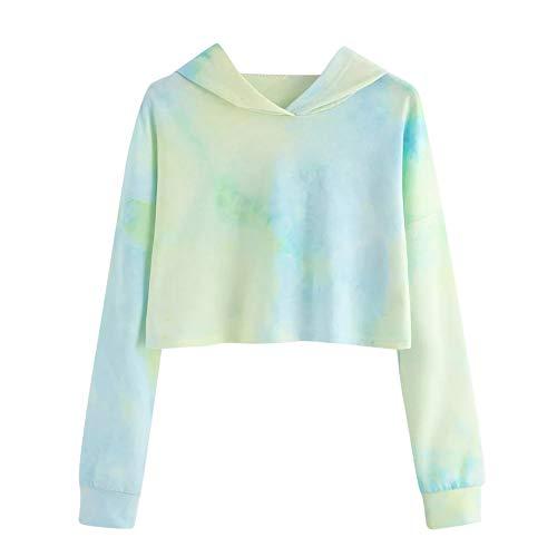 iHENGH Damen Sweatshirt,Women Hoodie Bedruckte Patchwork Sweatshirt Langen Ärmel Pullover Tops