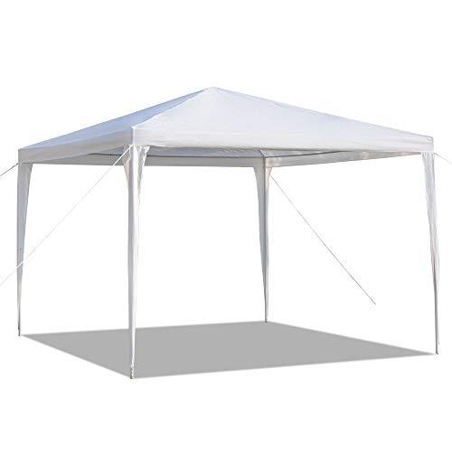 JKIOHO Tienda de campaña para exteriores de 10 x 10 pies, para patio, boda, fiesta, carpa resistente con tubos espirales para actividades al aire libre