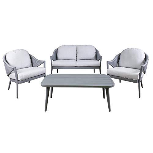 Dellonda Echo 4 Piece Aluminium Outdoor Sofa Set