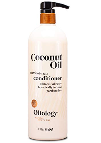 Oliology Coconut Oil Conditioner - Nutrient Rich   Restores Vibrancy   Botanically Infused   Paraben Free