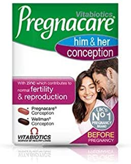 (4 PACK) - Vitabiotics Pregnacare His & Hers Tablets | 60s | 4 PACK - SUPER SAVER - SAVE MONEY