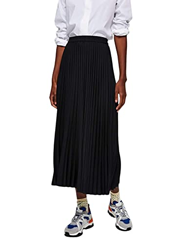 SELECTED FEMME Damen Slfalexis Mw Midi Skirt Noos Rock, Black, 36 EU