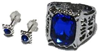 Black Butler Ciel Phantomhive Ring + Earrings Set Costume accessory tool accessories (japan import) by takuyo