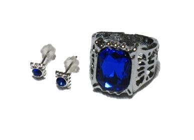 Black Butler Ciel Phantomhive Ring + Earrings Set Costume accessory tool accessories (japan import)