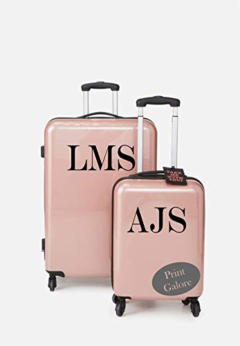 Personalised Suitcase Luggage *20CM* Vinyl Sticker Initial Decals PG111