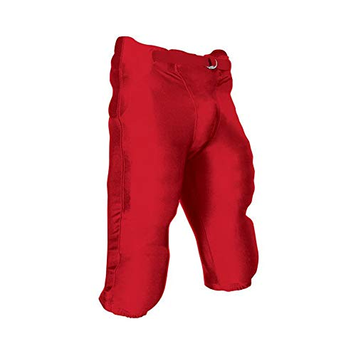 CHAMPRO Youth Integrated Football Game Pant Scarlet XL