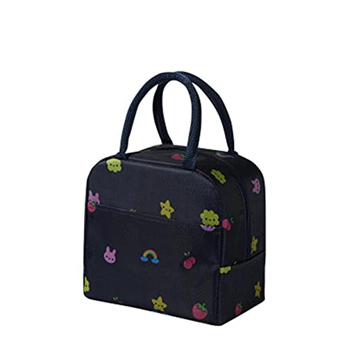 1PCs Fresh Cooler Bags Waterproof Nylon Portable Zipper Thermal Oxford Bags for Women Convenient Box Food Bags-I