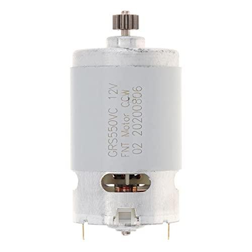 LITOSM Motor DC 10.8/12/14/16.8/18/2 1V DC Motor 1pc con 2 Dientes de Dos velocidades y Caja de Engranajes de Alta torsión para Taladro eléctrico (Speed(RPM) : 12V 23000 RPM)