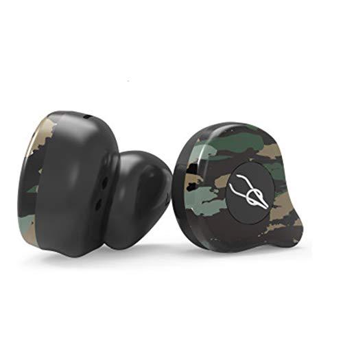 LBJN True Wireless Bluetooth Headset 5.0 Auriculares A Prueba de Agua Reducción de Ruido Llamada binaural Auriculares Deportivos Camuflaje-Amazon