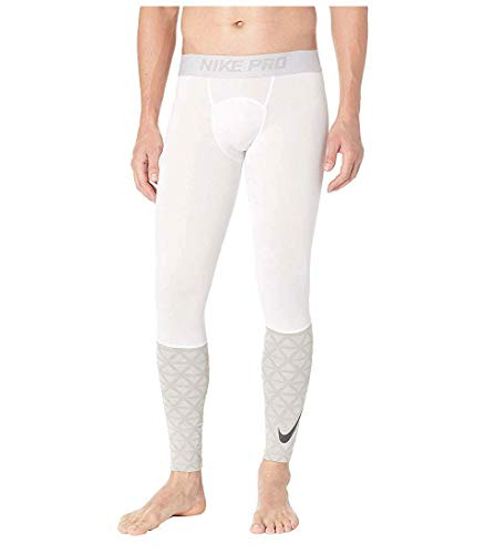 Nike Men's Pro Tight Training Pants (XX-Large, White/Cool Grey)