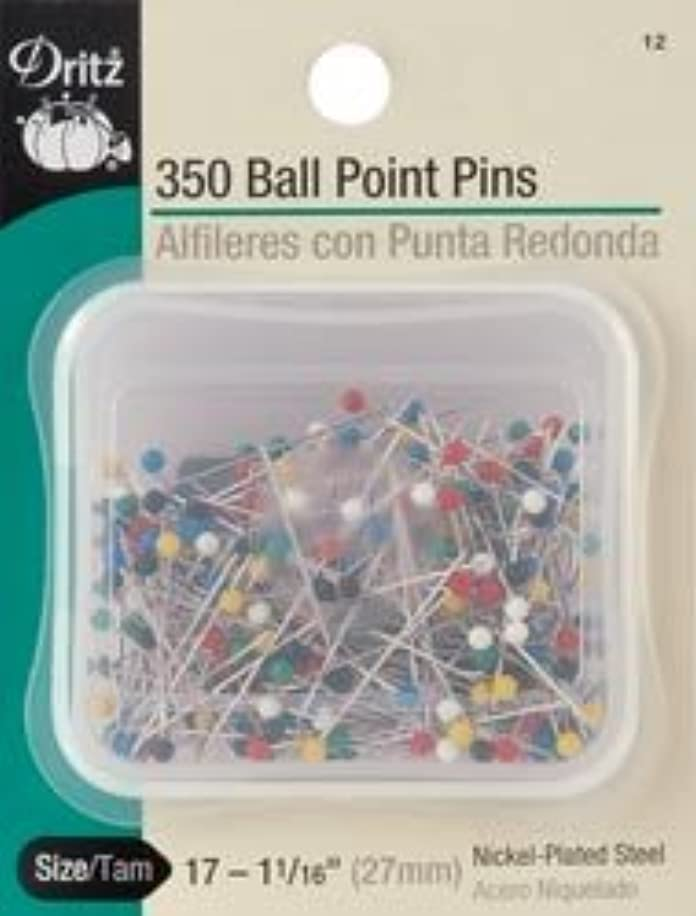 Bulk Buy: Dritz Ball Point Pins Size 17 350/Pkg 12 (3-Pack)