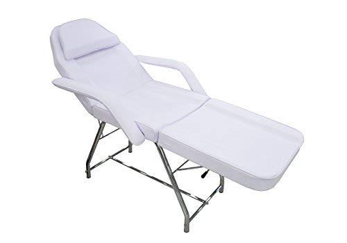 Cris nails - camilla profesional multifunción y económica para masaje, ajustable blanca cama para tratamiento de belleza (color blanco)