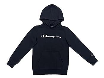 Champion Legacy Classic Logo Sweatshirt à Capuche Garçon -Bleu Marine - 9-10 Ans (Fabricant: M)