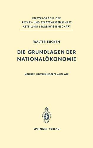 Die Grundlagen der Nationalökonomie (Enzyklopädie der Rechts- und Staatswissenschaft)