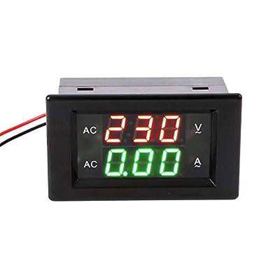Mercu AC 500V 50A Digital Voltage Current Multimeter LCD Volt Amp Meter Gauge Panel Tester Voltage Amperage Dual Display LED Power Monitor with Blue Back-light and Current Transformer