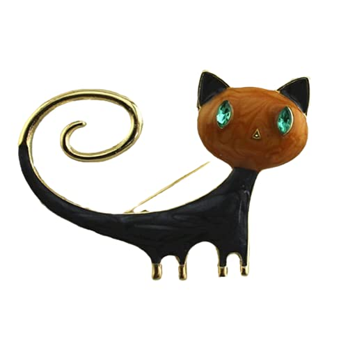 Broche De Gato Que Gotea Aceite Pintado Aleación Creative Cat Brooch-Xz-0496, China
