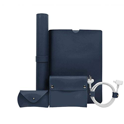 13.3 Inch Laptop Sleeve Case, PU Leather Laptop Bag Accessories Kit with Leather Office Desk Pad,for MacBook Air/Pro