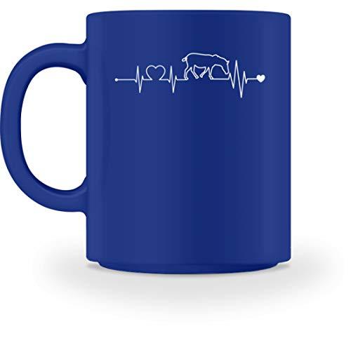 Schuhboutique Doris Finke UG (haftungsbeschränkt) Herzschlag Heartbeat Zebra - Tasse -M-Royal Blau