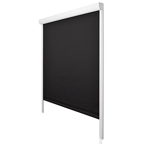 Sol Royal Kassettenrollo SolReflect K24 100x175cm schwarz Thermorollo - seitliche Führungsschienen - Befestigung ohne Bohren in div. Farben und Größen