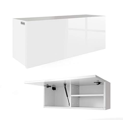 RODRIGO PlatanRoom Badschrank weiß schwarz 80 x 30 x 25 cm breit Badmöbel Badezimmer Hängeschrank Schrank Hänger Hochglanz