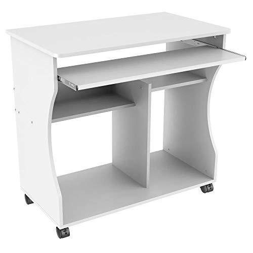 Yaheetech Computerschreibtisch Schreibtisch Computertisch mit 4 Ablageflächen, 80 x 48 x 76 cm, Bürotisch PC Tisch