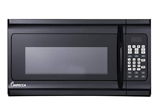 """Impecca COM1600B 1.6 cu. ft. Over-the-Range 30"""" Microwave Oven 1000 Watts, with Surface Light, 2 Speed Vent System, Touch-pad Controls, Digital Clock, Timer, LED Display and Child Lock, Black"""