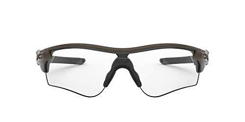 Oakley Gafas de sol para hombre OO9206 Radarlock Path Asian Fit Wrap, Oliva/Negro claro fotocromático,