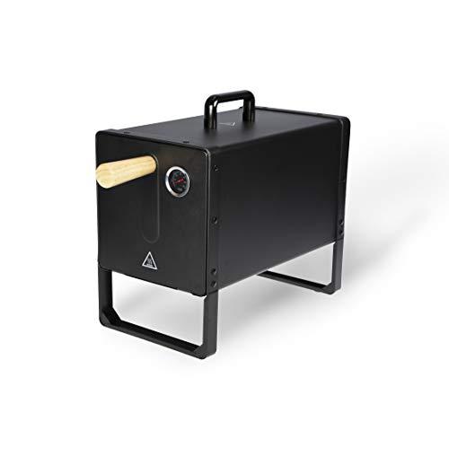 BARBEC-U Elektrischer Räucherofen, mit Temperaturregler und Thermometer für ideales Räuchern von Fleisch, Fisch und mehr, Smoker mit hitzebeständigem Material und Griff, zum Grillen und Backen