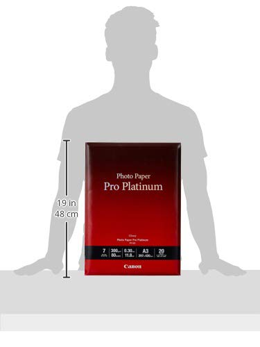 Canon PT-101 Pro Platinum Fotopapier - DIN A3, 20 Blatt (300 g/qm) für Tintenstrahldrucker