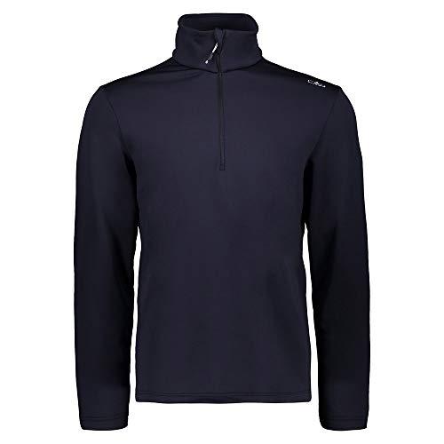 CMP Herren Maglia in Pile Stretch Performance Long Sleeve Shirt, Schwarz Blau, 52